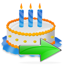 Birthday, Cake, Next Icon