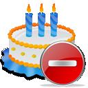 Birthday, Cake, Delete Icon