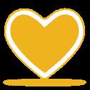 Heart, Love, Yellow Icon