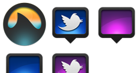 Grooveshark and Twitter Replacement Icons