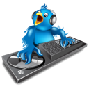 Dj, Music, Twitter Icon