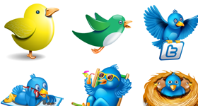 Massive Twitter icon set Icons
