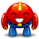 Happy, Monster, Red Icon