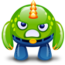 Green, Happy, Monster Icon