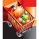 Christmas, Ecommerce, Full, Shoppingcart Icon