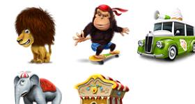 Joker Circus Icons