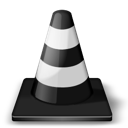 Cone, Player, Traffic, Vlc, Whack Icon