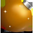 Ball, Christmas, Golden Icon