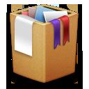 Alt, Cardbox, Full, Trash Icon