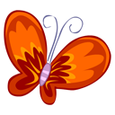 Butterfly, Red Icon
