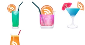 RSS Drink Cocktail Party Icons