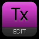 Purple, Text Icon