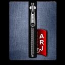 Arj, Blue, Silver Icon