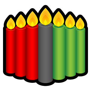 Candles, Kwanzaa Icon
