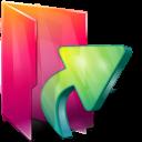 Aurora, Folders, Icontexto, Links Icon