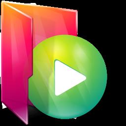 Aurora, Folders, Icontexto, Play Icon