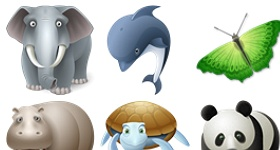Animals Set Icons
