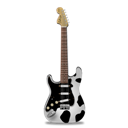 Cow, Guitar, Stratocaster Icon