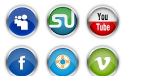 Chrome Social Media Icons