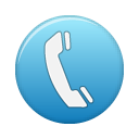 Blue, Telephone Icon