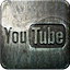 Engraved, Grunge, Highlight, Media, Metal, Social, Youtube Icon
