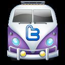 Purple, Twitter, Van Icon