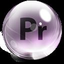Adobe, Glass, Premiere Icon