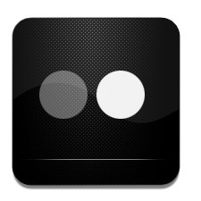 And, Black, Flickr, White Icon