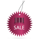 Barcode, Label, Sale Icon