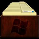 Explorer, Windows, Wood Icon