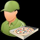 Light, Male, Pizzadeliveryman Icon