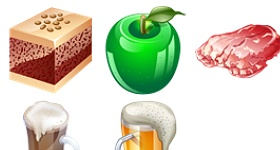Food Real Vista Icons