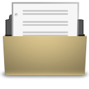Document, Manilla, Open Icon
