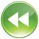 Backward, End, Green, Rewind Icon