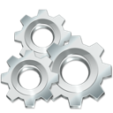 Execute, Gears, Settings, Silver, Utilities Icon