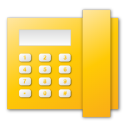 Telephone, Yellow Icon