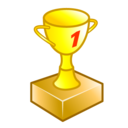 Number, Trophy, Win Icon