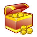 Chest, Gold, Treasure Icon