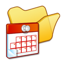 Folder, Scheduled, Tasks, Yellow Icon