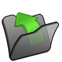 Black, Folder, Parent Icon