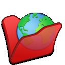 Folder, Internet, Red Icon