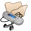 Beige, Folder, Mymusic Icon