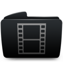 Black, Folder, Movies Icon
