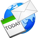 Calendar, Earth, Email, World Icon