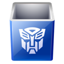 Bin, Decept, Empty, Recycle, Transformers Icon
