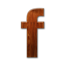 Facebook, Logo, Wooden Icon