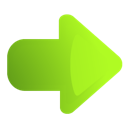 Arrow, Green, Right Icon