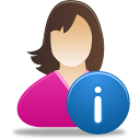Female, Info, User Icon