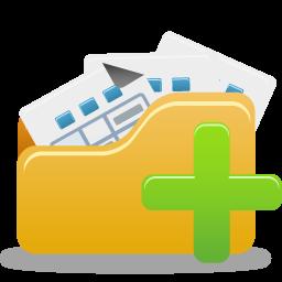Add, Folder, Open Icon