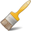 Paintbrush, Yellow Icon